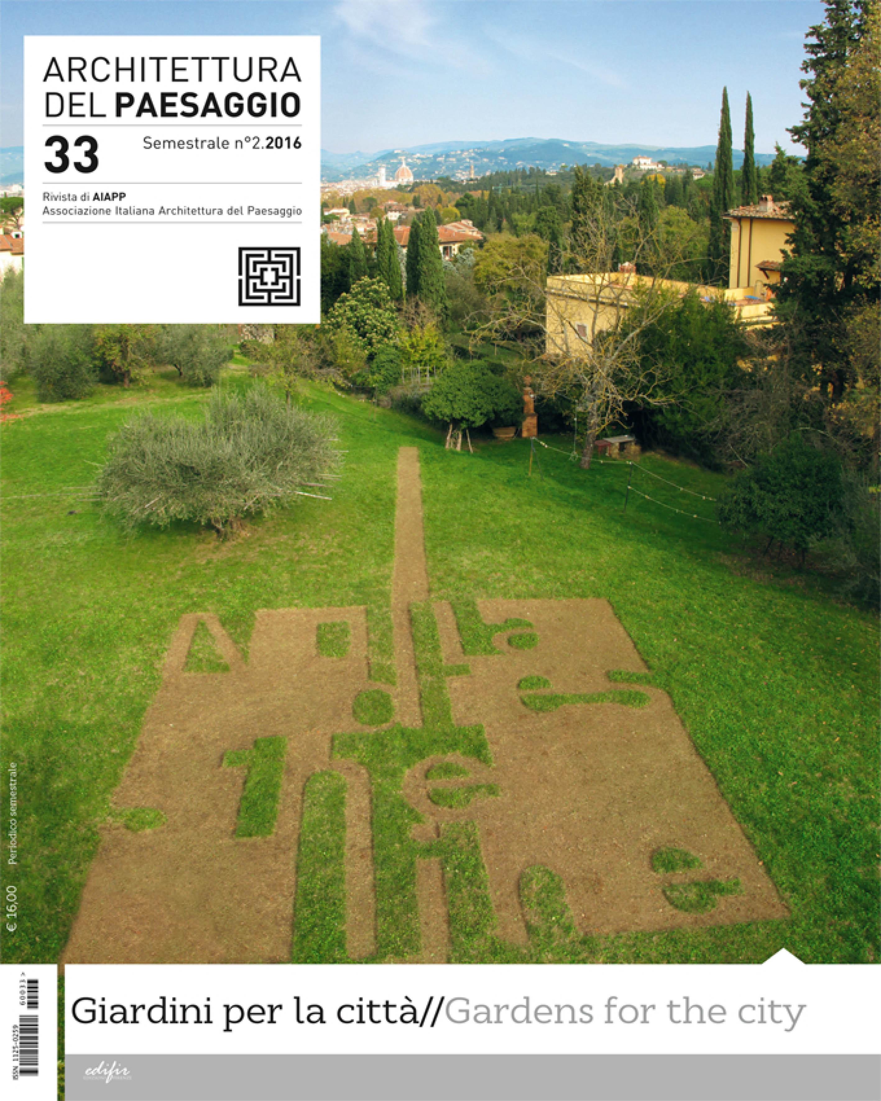 Architettura del paesaggio 33 giardini per la citt for Architettura giardini